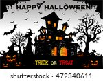 halloween night background with ... | Shutterstock .eps vector #472340611