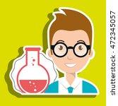 student laboratory tools vector ... | Shutterstock .eps vector #472345057