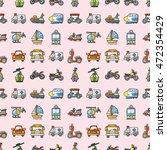 transportation icons set eps10   Shutterstock .eps vector #472354429