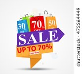 sale banner design for shop and ... | Shutterstock .eps vector #472364449