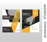 yellow black vector annual... | Shutterstock .eps vector #472365349