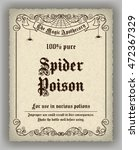 halloween apothecary label in... | Shutterstock .eps vector #472367329