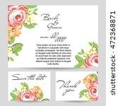 vintage delicate invitation... | Shutterstock .eps vector #472368871