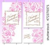 romantic invitation. wedding ... | Shutterstock . vector #472370371