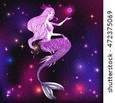 beautiful mermaid. sea  fantasy ... | Shutterstock .eps vector #472375069