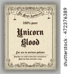 halloween apothecary label in... | Shutterstock .eps vector #472376389