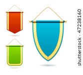 set of pennants. vector... | Shutterstock .eps vector #47238160