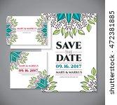 business card. vintage... | Shutterstock .eps vector #472381885