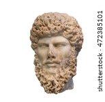 head of roman emperor lucius... | Shutterstock . vector #472385101