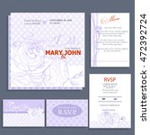 set of wedding cards or... | Shutterstock .eps vector #472392724