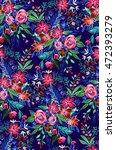 folk artistic pattern. seamless ...   Shutterstock . vector #472393279