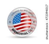 memorial day badge | Shutterstock .eps vector #472394017