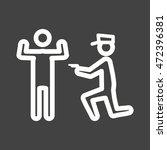 police arresting man | Shutterstock .eps vector #472396381