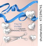 grand opening invitation card... | Shutterstock .eps vector #472396741