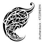 tribal art tattoo. maori origin | Shutterstock . vector #472398394
