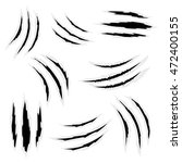 scratches by claws vector set.... | Shutterstock .eps vector #472400155