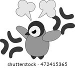 a pretty penguin baby is angry | Shutterstock .eps vector #472415365