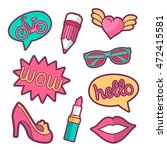 vector colorful quirky patches... | Shutterstock .eps vector #472415581
