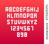 rounded font. vector alphabet... | Shutterstock .eps vector #472429291