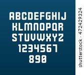 strict font. vector alphabet... | Shutterstock .eps vector #472429324