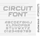 circuit board font. vector... | Shutterstock .eps vector #472431271