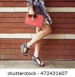 young woman with fashion...   Shutterstock . vector #472431607