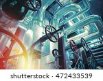 equipment  cables and piping as ... | Shutterstock . vector #472433539