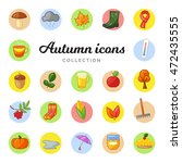 colorful autumn icons | Shutterstock .eps vector #472435555