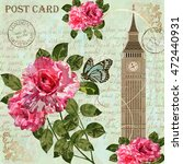 london vintage postcard. | Shutterstock .eps vector #472440931