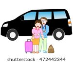 the couple who travels by car. | Shutterstock .eps vector #472442344