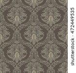 vector vintage baroque damask... | Shutterstock .eps vector #472449535