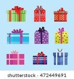 gift box birthday set present... | Shutterstock .eps vector #472449691