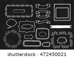 decorative hand drawn frames.... | Shutterstock .eps vector #472450021