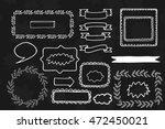 decorative hand drawn frames.... | Shutterstock .eps vector #472450021