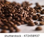 macro shoot coffee beans on... | Shutterstock . vector #472458937