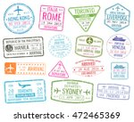 international business travel... | Shutterstock .eps vector #472465369