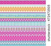 tribal seamless pattern.... | Shutterstock .eps vector #472473505