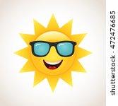 smiling sun | Shutterstock .eps vector #472476685