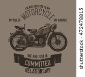 hand drawn vector motorcycle... | Shutterstock .eps vector #472478815