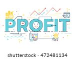 profit word lettering design... | Shutterstock .eps vector #472481134