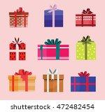 gift box birthday set present... | Shutterstock .eps vector #472482454