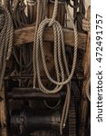 Old Wooden Sailing Ship Winch...