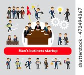 flat startup concept with... | Shutterstock .eps vector #472494367