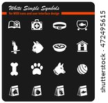 goods for pets web icons for... | Shutterstock .eps vector #472495615