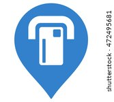 atm map pointer icon. glyph... | Shutterstock . vector #472495681