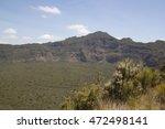 crater rim of mount longonot | Shutterstock . vector #472498141