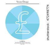 sterling sign | Shutterstock .eps vector #472498774