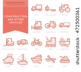 flat thin line icons set of... | Shutterstock .eps vector #472500361