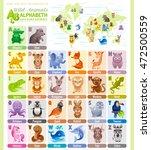 alphabet wildlife infographics. ... | Shutterstock .eps vector #472500559
