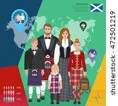scottish family in national... | Shutterstock .eps vector #472501219